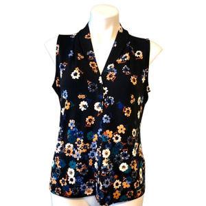 NEW Calvin Klein Sleeveless Top | LP Black Floral